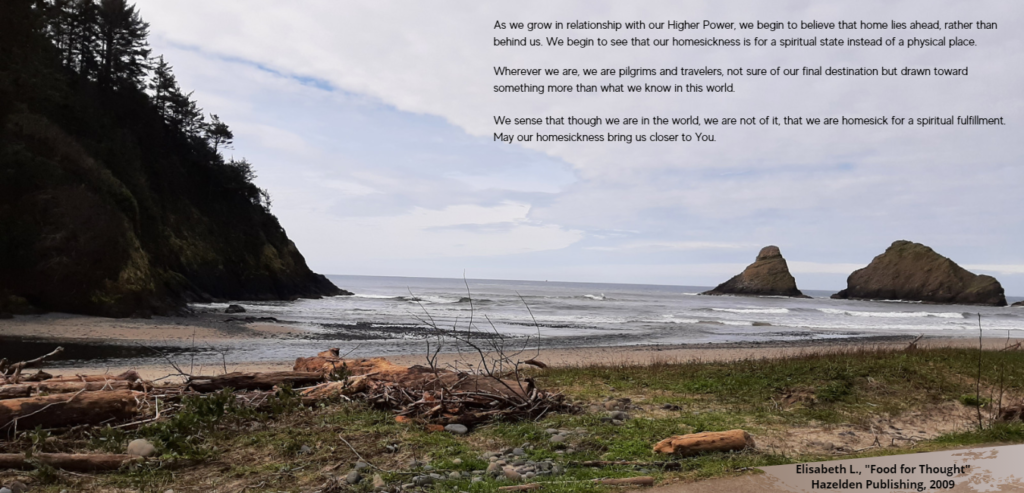 words of affirmation on a photograph of the Oregon coast
